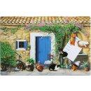 Landhausidylle mit Katzen Pinwand