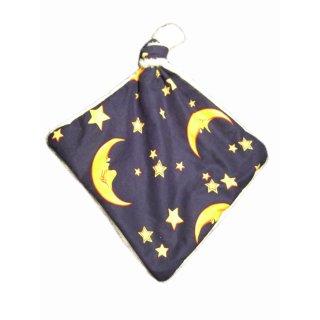 Kuscheltuch mit Mond und Sternen