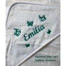Baby Kapuzenhandtuch Schmetterlinge 100x100 cm