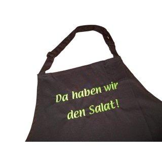 Küchenschürze Da haben wir den Salat!