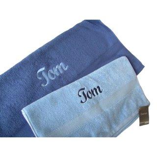 Handtuch mit Namen bestickt