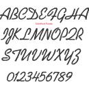 Serviette 40 x 40 cm mit Monogramm