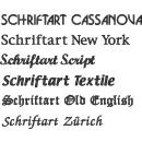 Aufnäher oval Wunschtext 12x4 cm