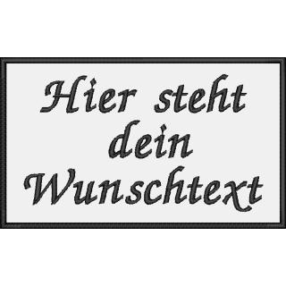 Aufnäher rechteckig Wunschtext 10x6 cm