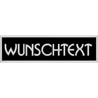 Aufnäher rechteckig Wunschtext 11x3 cm