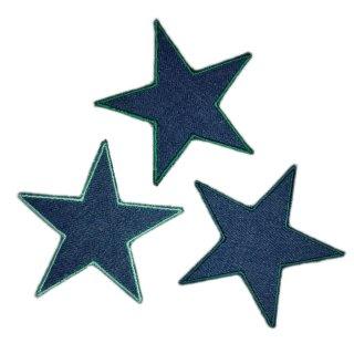 Sterne 3er Set Jeans grün