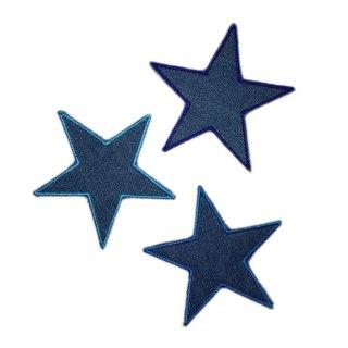 Sterne 3er Set Jeans blau