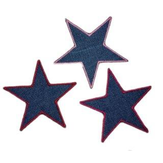 Sterne 3er Set Jeans rot