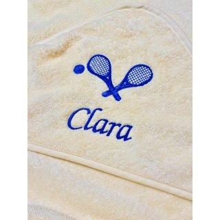 Baby Kapuzenhandtuch Tennis 100x100 cm