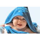 Baby Kapuzenhandtuch Sterne 100x100 cm
