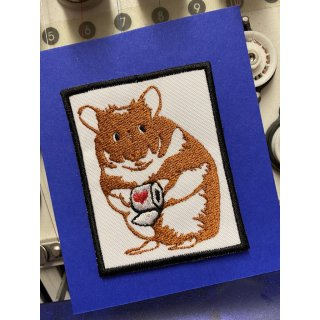 Hamster Aufnäher